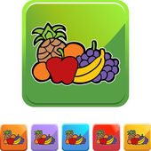 Fruit icon button — Stock Vector