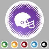 Football helmet web button — Vector de stock