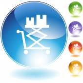 Flatbed Lift Cart Icon — Stock Vector