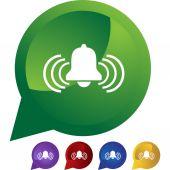 Alert Bell web button — Stock Vector