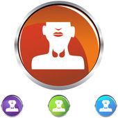Thyroid Gland icon — Stock Vector