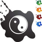Yin Yang web icon — Stock Vector