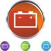 Car Battery button — Stockvektor