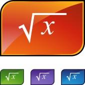 Square Root web button — Stock vektor