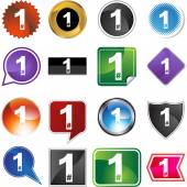 Number One sign — Stock Vector