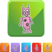 Robot web icon — Stock Vector