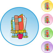 Book Worm web icon — Stock Vector