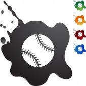 Baseball Web button set — Stock Vector