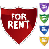 For rent colorful icons — Stock vektor