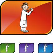 Doctor web icon — ストックベクタ