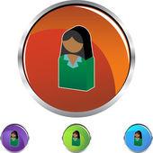 Business Woman web icon — Vetor de Stock
