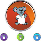 Koala icon button — Stockvektor
