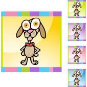 Beagle web icon — Vector de stock