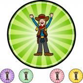 Cowgirl web icon — Stok Vektör