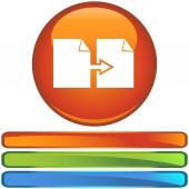 Papier przycisk zestaw kopii — Wektor stockowy