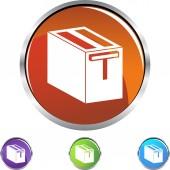 Toaster web button — Stock Vector