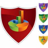 Arrow Bar Chart — Stock vektor