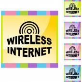 Sign Wireless Internet web button — Vector de stock
