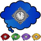 Clock web icon — Stock Vector