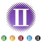 Gemini Zodiac Symbol — Stock Vector