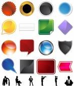 Businessman Concept Variety Set — Stock Vector