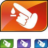 Diabetes Test icon set — Stock Vector