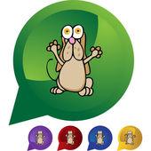 Basset Hound web icon — Stock Vector