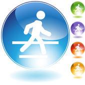 Crosswalk Crystal Icon — Stock Vector