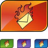 Urgent Email icon set — Stock vektor