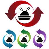 Trash Bag icon button — Cтоковый вектор