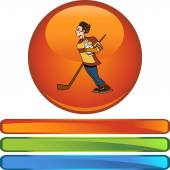 Hockey Player icon — Vettoriale Stock