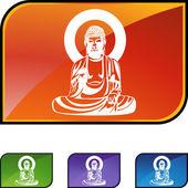 Icône de web de Bouddha — Vecteur