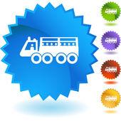 Military Transport button — Vector de stock