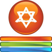 Jewish Star web icon — Stockvektor