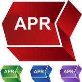 April web button — Stock Vector