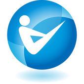Yoga Icon set — Vettoriale Stock