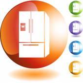Refrigerator web button — Stock Vector