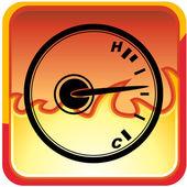 Temperature Gauge web icon — Stock Vector