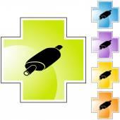 Car muffler button — Stock Vector