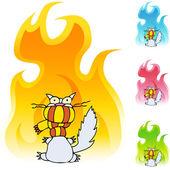 Cold Cat web icon — Stock Vector