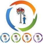 Car Repair and mechanic — Stock Vector #64180661