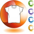 Wit Shirt pictogram — Stockvector  #64180679