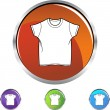 Wit Shirt pictogram — Stockvector  #64180923