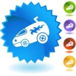 Hotrod Van web button — Stock Vector #64181321