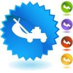 Icono web del cortacéspedes de césped — Vector de stock  #64183047