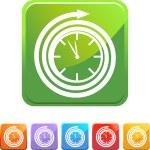 Clock web button — Stock Vector #64183227