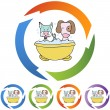 Puppy Bath web icon — Stock Vector #64183879