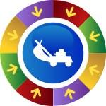 Lawn Mower web icon — Stockvector  #64188047