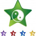 Yin Yang web icon — Stock Vector #64188175