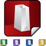 Paper Bag web icon — Stock Vector #64189437